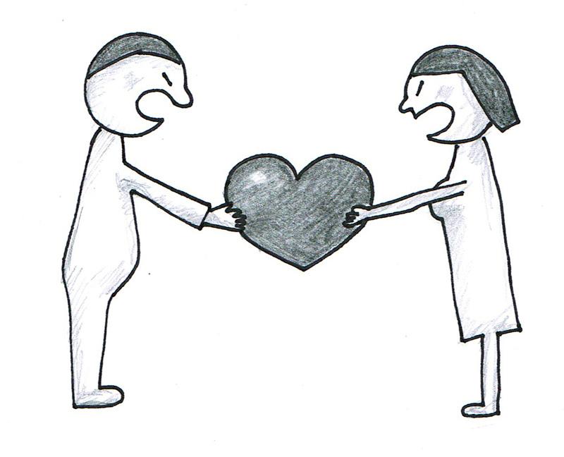 Para bijąca się o serce