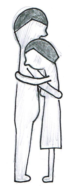 przytulająca się para dająca sobie wsparcie